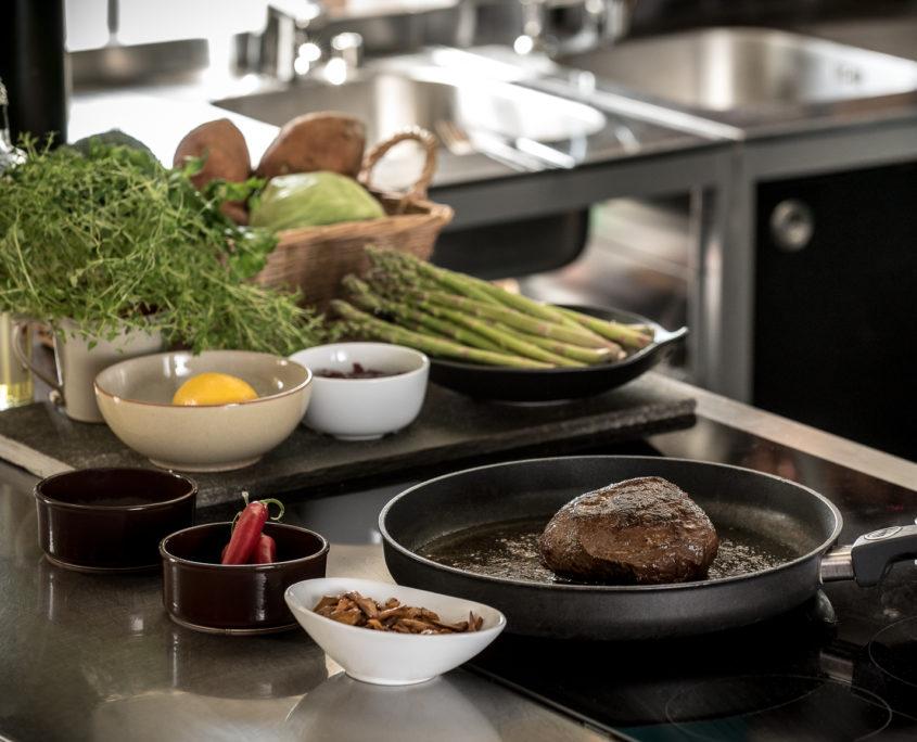 Kjøt på steikepanne
